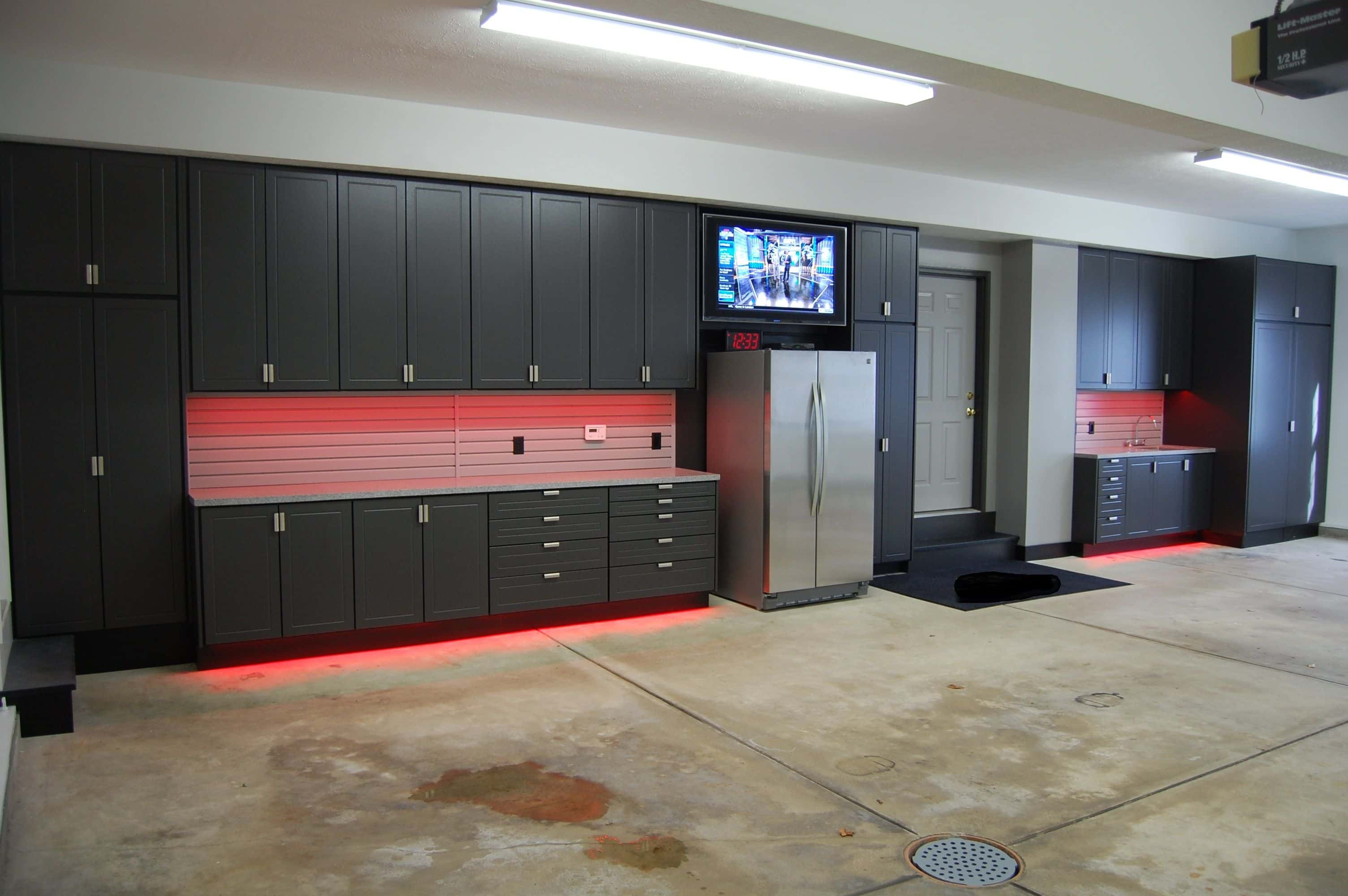 Joinery Dubai specializes as custom garage room furniture manufacturing listed as: cabinets, shelvings, wall units within Abu Dhabi.