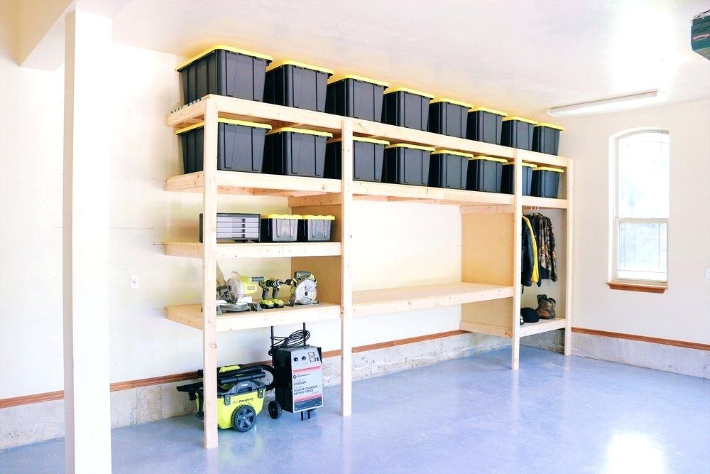 Shelving unit for garage manufactured using solid white wood with layers of storage space. made for a villa in nad al sheba