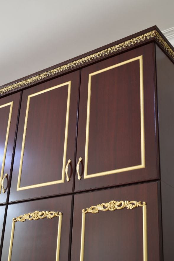 Close view of the upper cabinet of the wardrobe made for Al Ain.